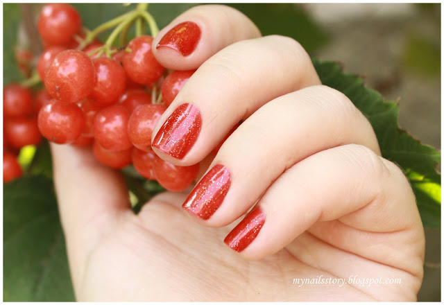 Krimle One step gel polish № 9 + слайдер-дизайн Milv S46