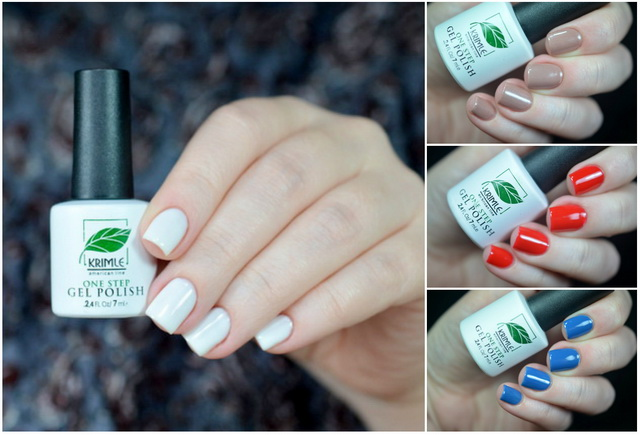 Krimle - One Step Gel Polish - 3, 5, 10, 29 + Milv - слайдер-дизайн